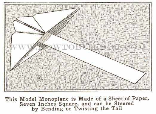 Make A Model Paper Airplane That can be Steered